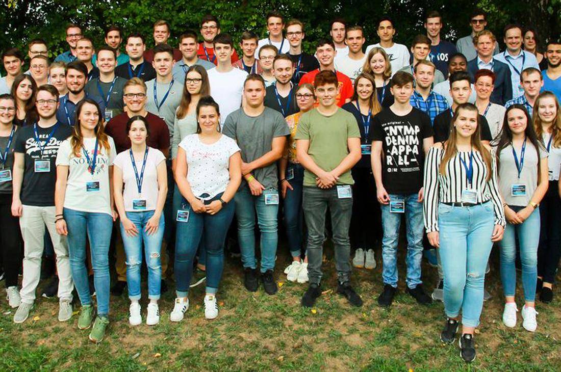 Gruppenbild der Teilnehmer des Stuzubi Camps 2018