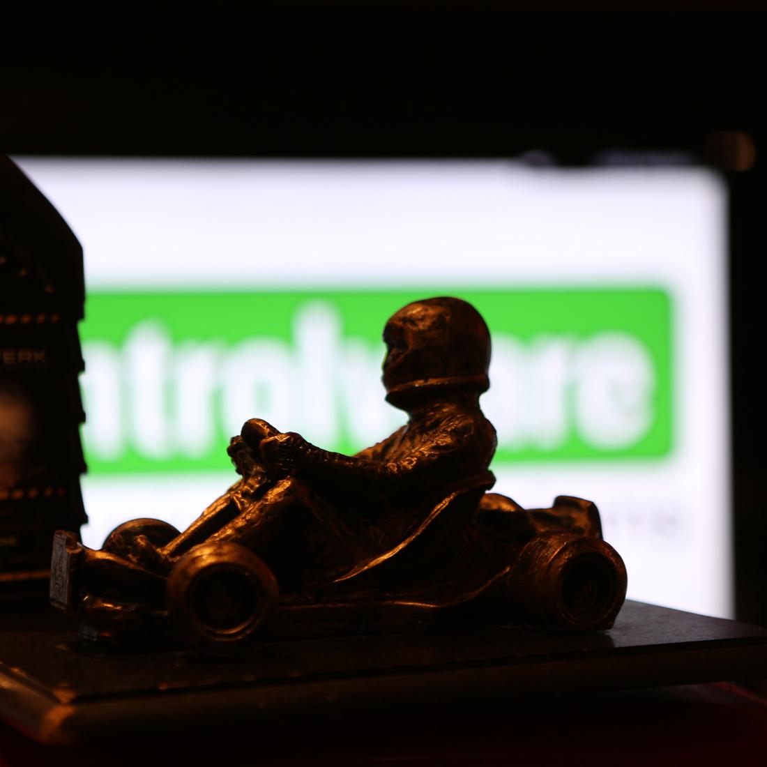 Der Pokal des Controlware Kart-Cup-Events.
