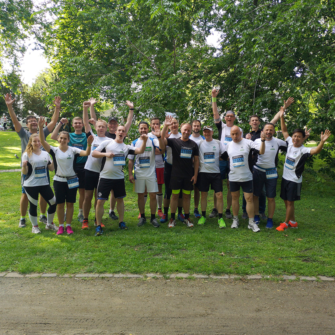 Das Controlware-Team beim J.P. Morgan Run in Frankfurt.