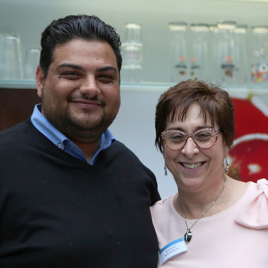 Pedram Navidi und Maria Theresa Del Monte auf dem letzten Controlware Kick-off im Mai 2019.