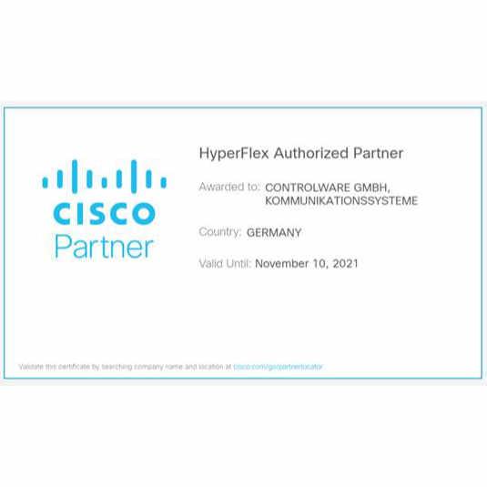 Controlware als HCI-Partner von Cisco in der Data Center Spezialisierung HyperFlex ausgezeichnet